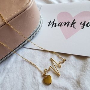 """""""My heartbeat"""" gold plated necklace"""